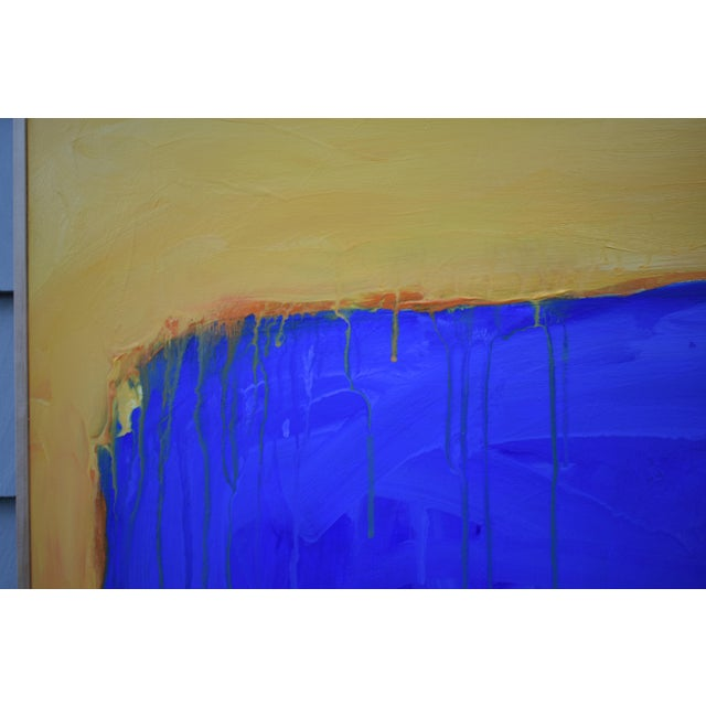 "2010s ""The Sun Came Up and It Was Blue and Gold"" Contemporary Abstract Painting by Stephen Remick For Sale - Image 5 of 11"