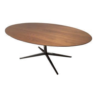 Mid-Century Modern Inspired Florence Knoll Chrome and Teak Center Table