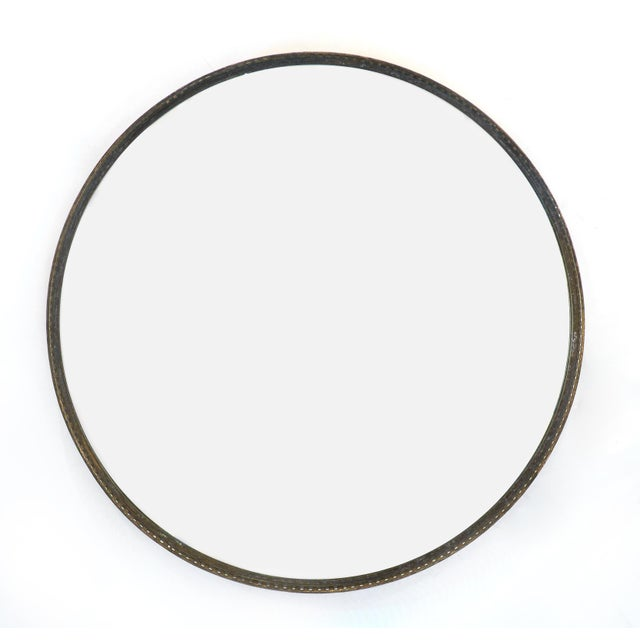 Antique Brass Gallery Round Wall Mirrors For Sale - Image 10 of 10