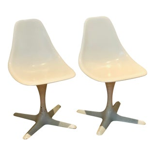 1960s Mid Century Modern Burke Propeller Chairs-a Pair For Sale