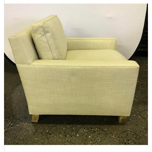 Mid-Century Modern Hickory Chair Furniture Co. Mid-Century Modern Upholstered Lounge Chair For Sale - Image 3 of 12