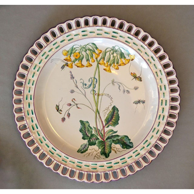 Late 18th Century Art Nouveau French Faience Enamel Decorated Emile Galle Nancy Plates, Signed - Set of 6 For Sale - Image 5 of 13