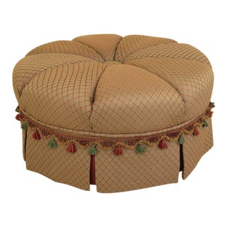 Round Upholstered Oversized Ottoman