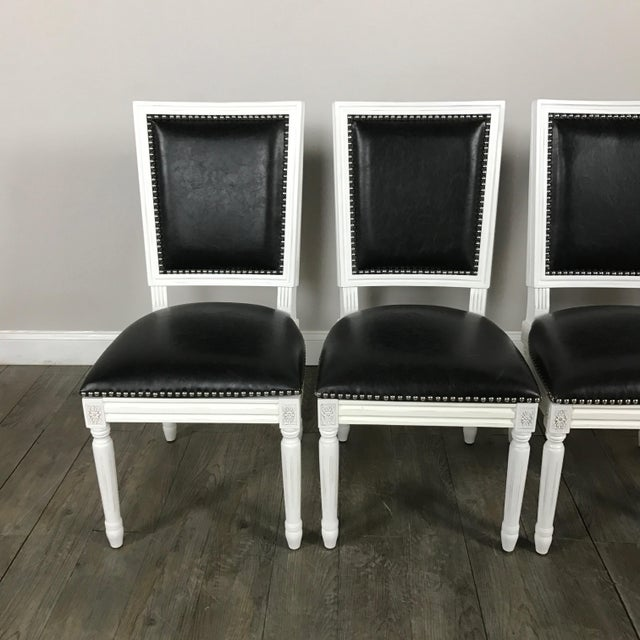 Leather Louis Dining Chairs - Set of 4 - Image 4 of 11