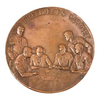 Maco Ny Bronze Medallion President Paperweight For Sale