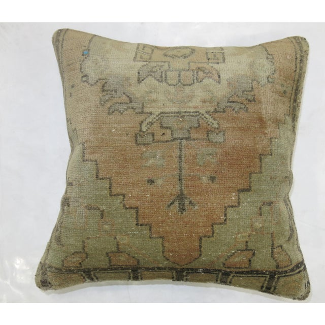 Vintage Oushak Rug Pillow For Sale - Image 4 of 4