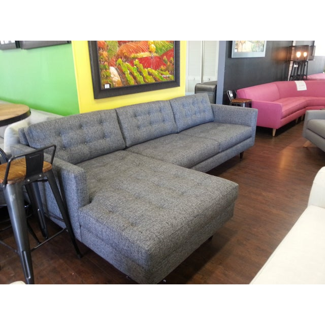 Mid-Century Tufted 2-Piece Sectional - Image 3 of 3