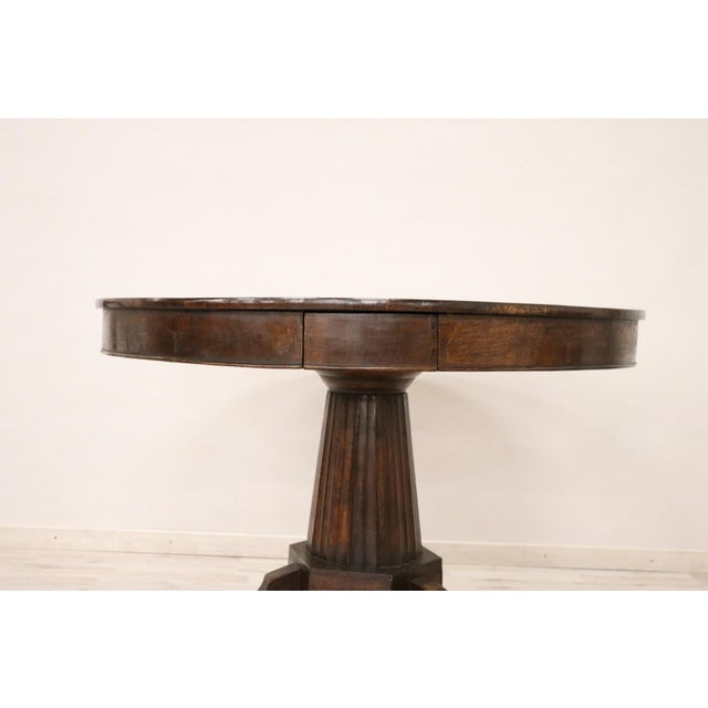 19th Century Empire Walnut Round Centre Table For Sale - Image 4 of 12