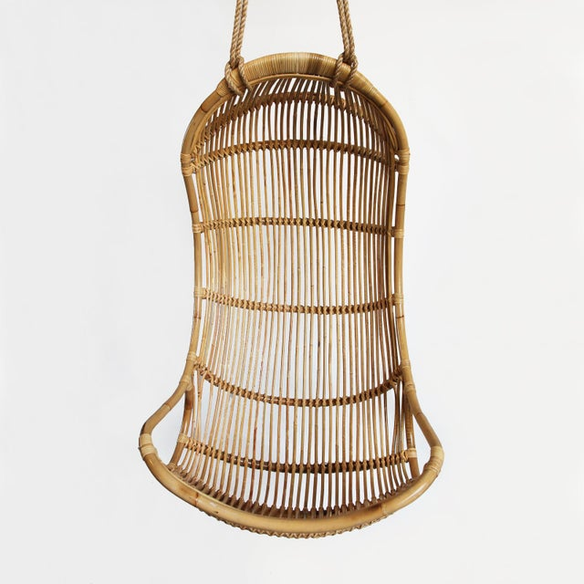 Hanging Bamboo Scoop Chair - Image 2 of 2