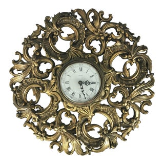 Decorative Ornate Jaeger Electronic Wall Clock For Sale