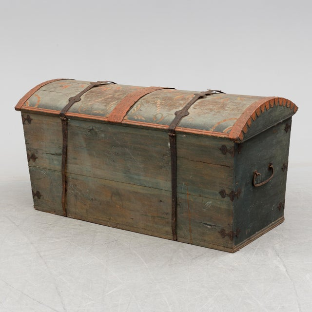 Wood Antique Swedish Wedding Chest For Sale - Image 7 of 8 - Antique Swedish Wedding Chest Chairish