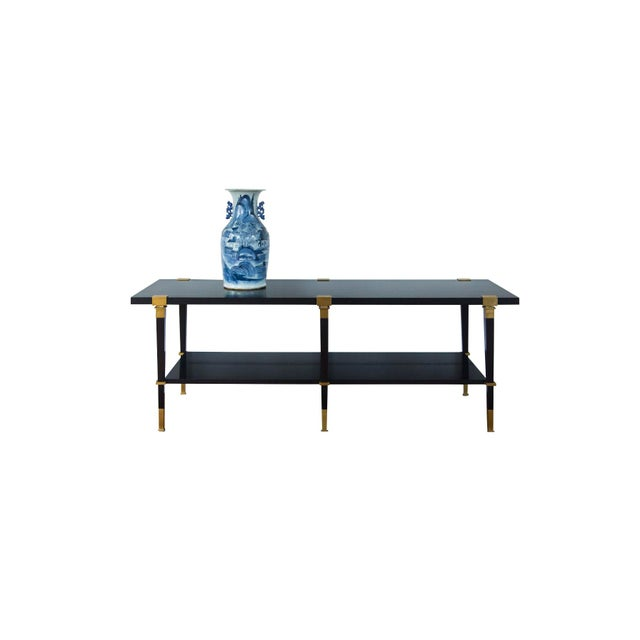 Andre Arbus 'Avenue' Ebonized Walnut Cocktail Table For Sale - Image 11 of 11