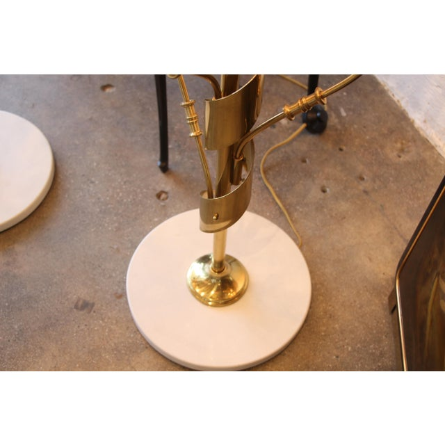 Stilnovo Stilnovo Brass Candelabra Floor Lamps With Marble Bases - a Pair For Sale - Image 4 of 12