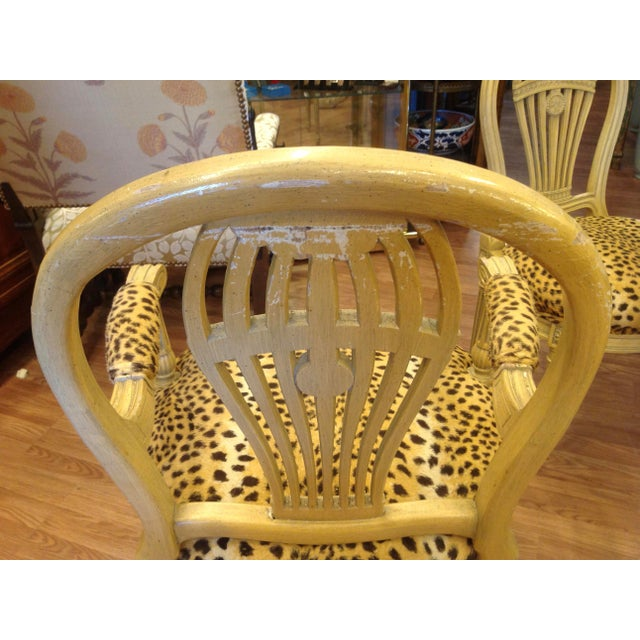 Set of 4 Jansen Style Balloon Back Chairs For Sale - Image 11 of 12
