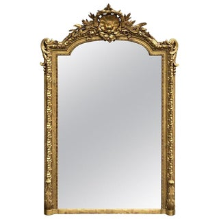 Exquisite Louis XVI Style Giltwood Mirror For Sale