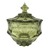 Image of 1970s Traditional Fenton Glass Covered Candy Dish For Sale