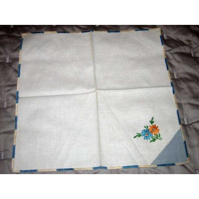 Vintage Cotton Napkins - Set of 4 For Sale - Image 4 of 5