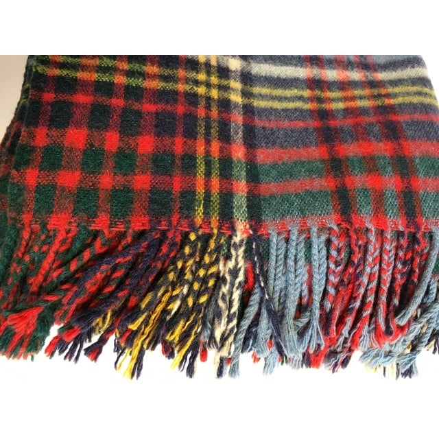 Vintage English Plaid Wool Blanket - Image 7 of 7