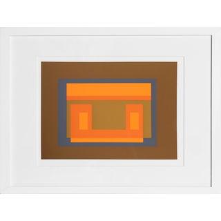 Josef Albers - Portfolio 1, Folder 11, Image 1 Framed Silkscreen For Sale