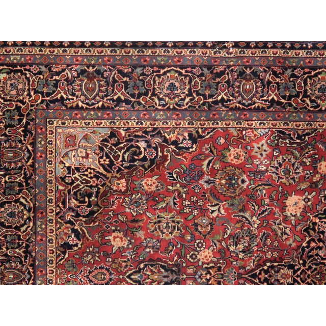 "Traditional Pasargad N Y Persian Kashan Design Rug - 5'1"" X 8'7"" For Sale - Image 4 of 5"