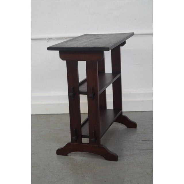 Roycroft Antique Mission Mahogany Journeys Stand For Sale - Image 5 of 10