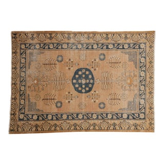 "Vintage Distressed Khotan Rug - 4'9"" X 6'8"" For Sale"