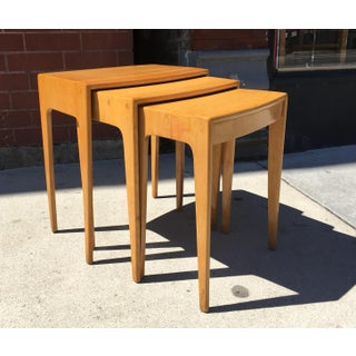 1950s Mid-Century Modern Heywood-Wakefield Vintage Nesting Tables - Set of 3 Preview