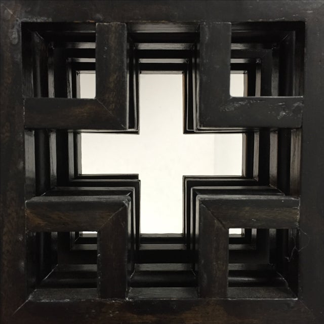 Custom Made Four Panel Wooden Screen - Image 4 of 11