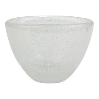 White Pulegoso Glass Vase by Carlo Scarpa for Venini For Sale