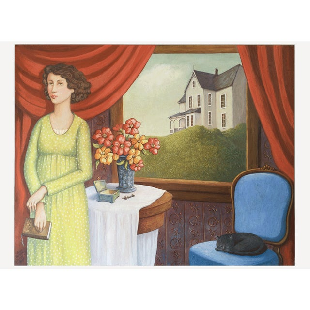 June Parrish Cookson Original Casein Painting - Image 1 of 6