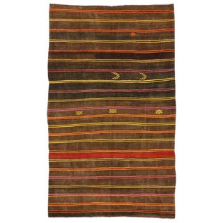 20th Century Turkish Kilim Rug With Tribal Style For Sale