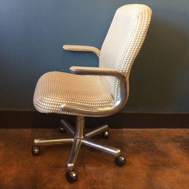 Mid-Century Aluminum Swivel Office Chair - Image 2 of 9