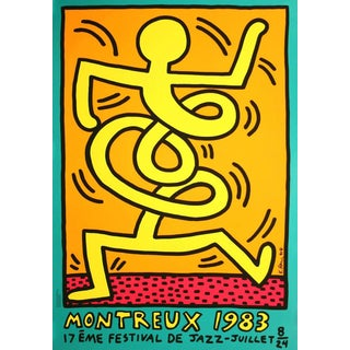 Keith Haring 'Montreux Jazz Festival Iii' 1983 Plate Signed Original Pop Art Poster For Sale