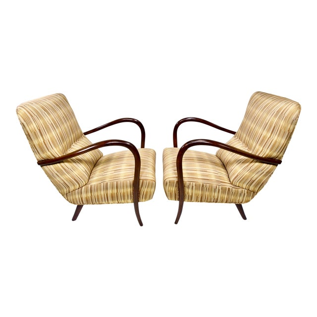 Italian Mid-Century High Back Chairs - A Pair - Image 1 of 10