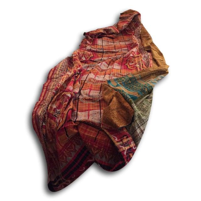 Boho Chic Vintage Kantha Quilt - Image 3 of 4