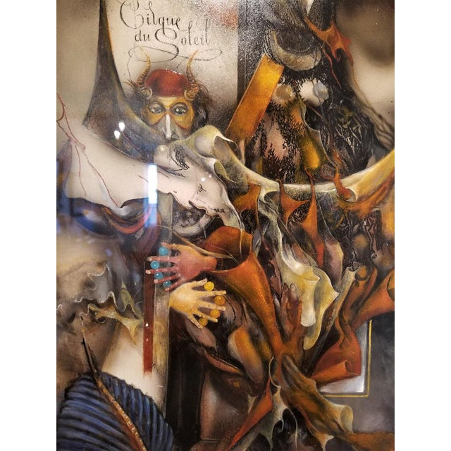 """Vladimir Ryklin """"Cirque De Soleil 1"""" Oil Painting on Canvas For Sale - Image 4 of 10"""