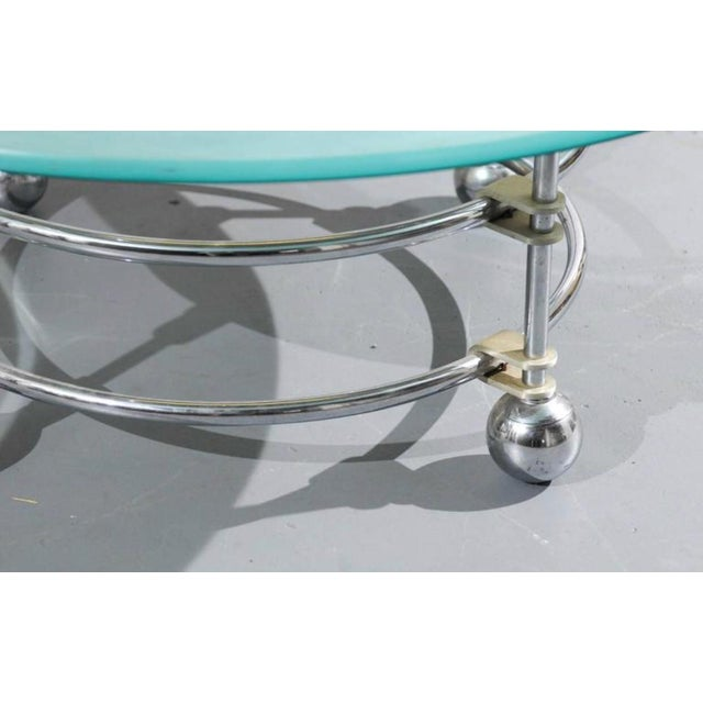 Mid-Century Modern Jay Spectre for Century Chrome and Glass Coffee Table For Sale - Image 3 of 5