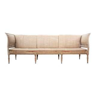 Three Seat Painted Gustavian Sofa For Sale