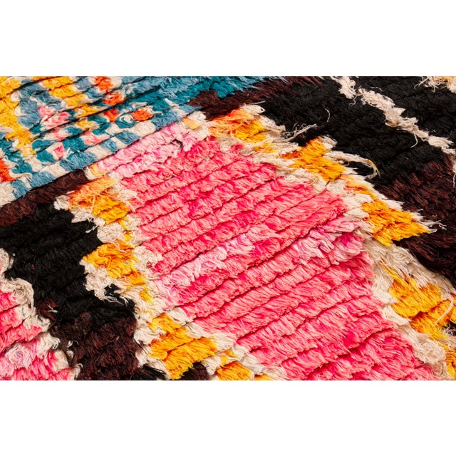 Contemporary Moroccan Geometric Wool Rug - 4′6″ × 6′ For Sale - Image 4 of 6