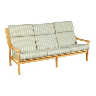 High Back Teak Sofa by Johannes Andersen for CFC Silkeborg For Sale