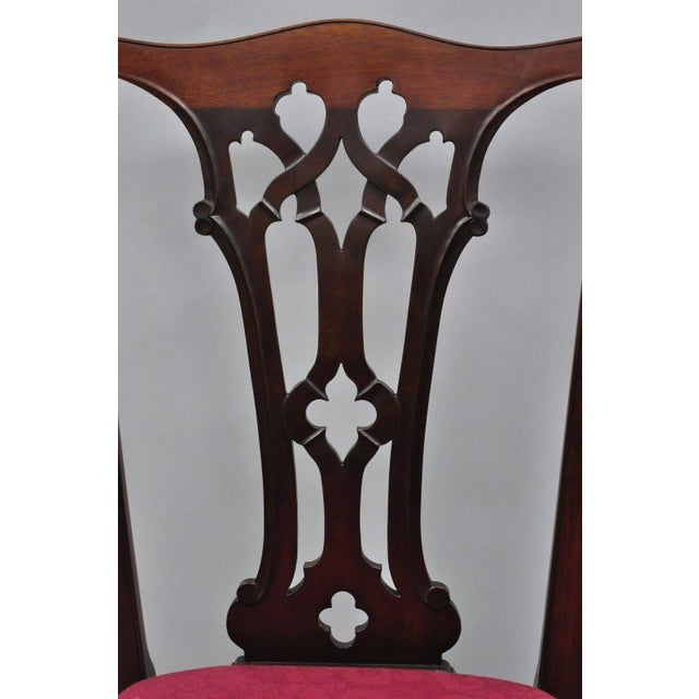 T. Robinson & Sons Makers Antique Solid Mahogany Chippendale Style Side Chairs - a Pair For Sale In Philadelphia - Image 6 of 13