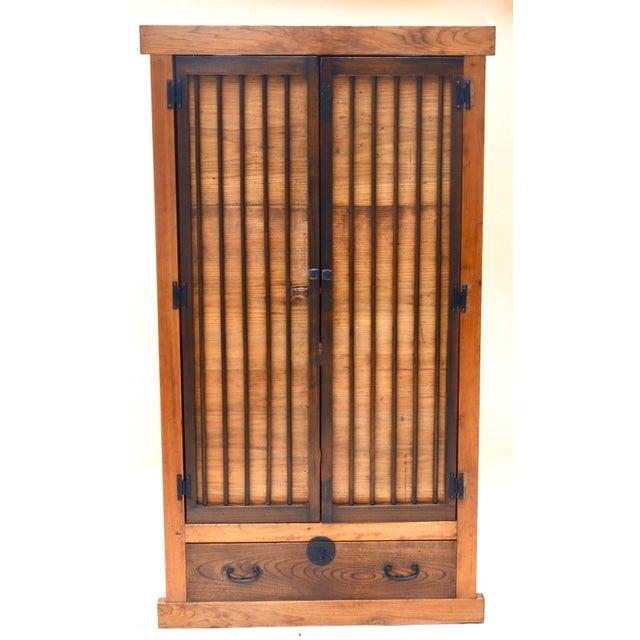 Antique Japanese Kimono Tansu Armoire For Sale - Image 10 of 10