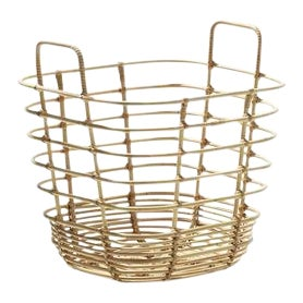 Cane-Line Sweep Basket, Square For Sale