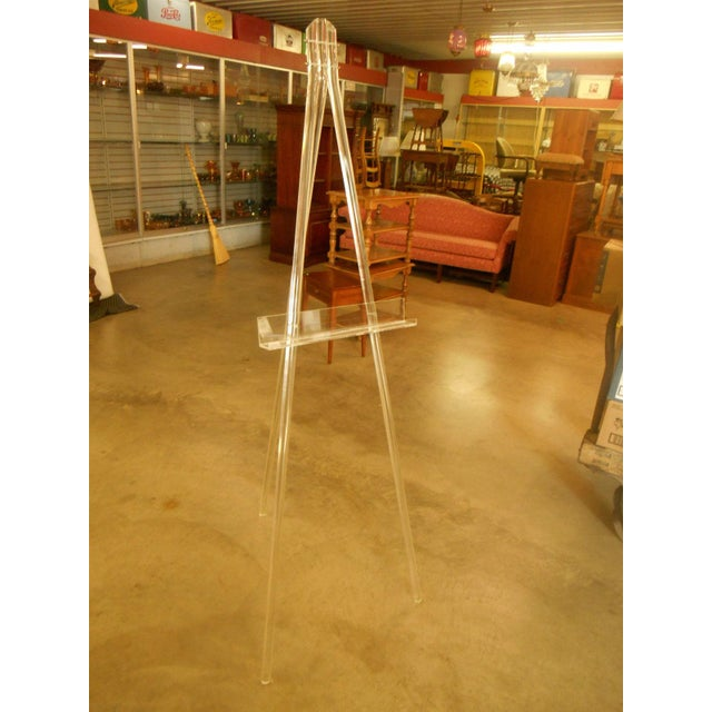 Mid-Century Acrylic Lucite Tripod Easel - Image 2 of 4