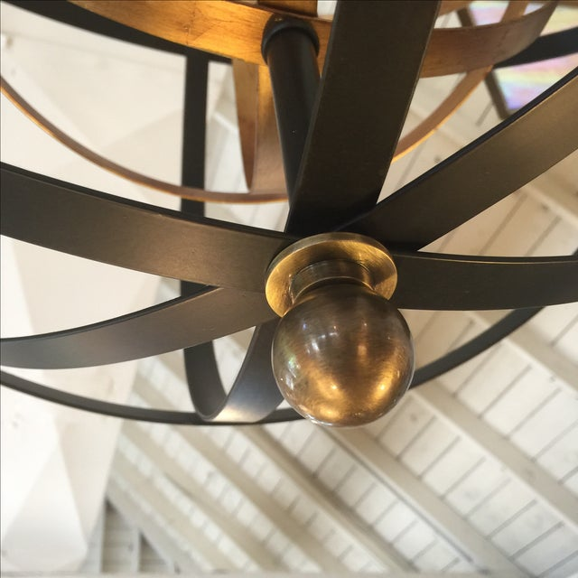 2000s Large Round Orb Pendant Light For Sale - Image 5 of 9
