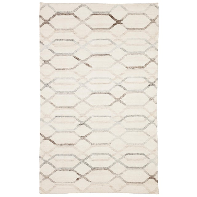 Jaipur Living Laveer Handmade Trellis Ivory & Light Gray Area Rug - 5'x8' For Sale In Atlanta - Image 6 of 6