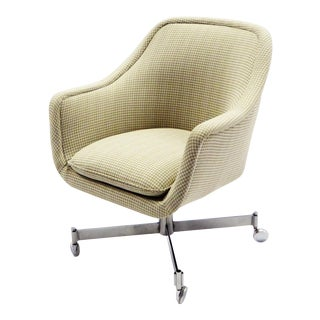 Ward Bennett for Brickel Associates,Bumper Office Desk Armchair on Casters. For Sale