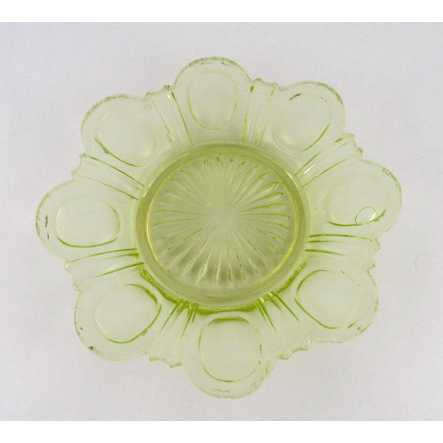 Antique Imperial Russian Uranium Glass Goblet and Saucer For Sale In Los Angeles - Image 6 of 12