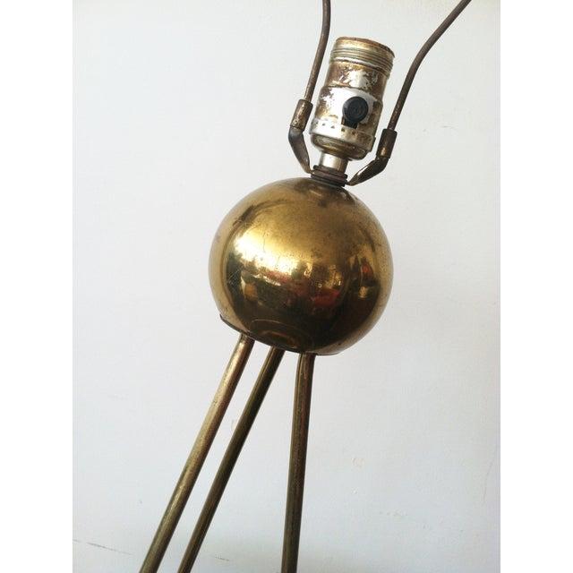 Rewire Walter von Nessen Tripod Brass Lamp For Sale - Image 4 of 8