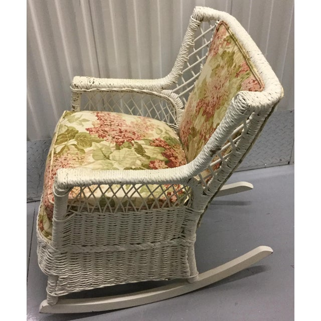 Vintage Wicker Rocking Chair - Image 7 of 10